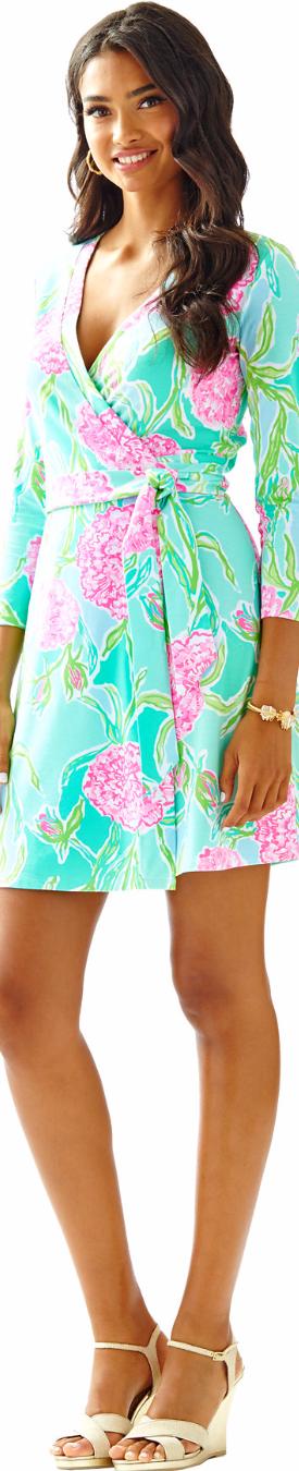 Lilly Pulitzer Meridan Printed Wrap Dress