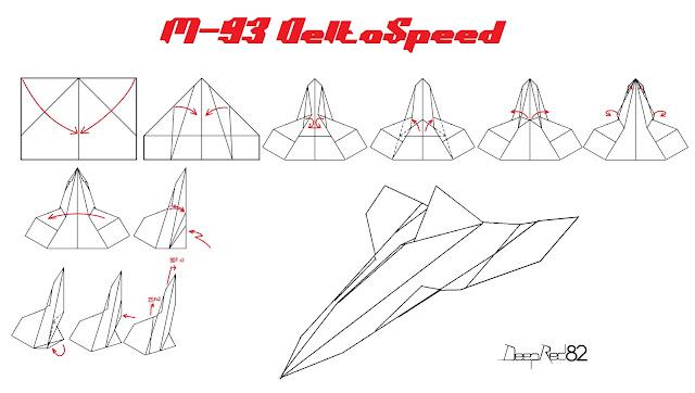 Avión de papel M-93 DeltaSpeed