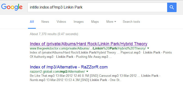 Google Music Search Index