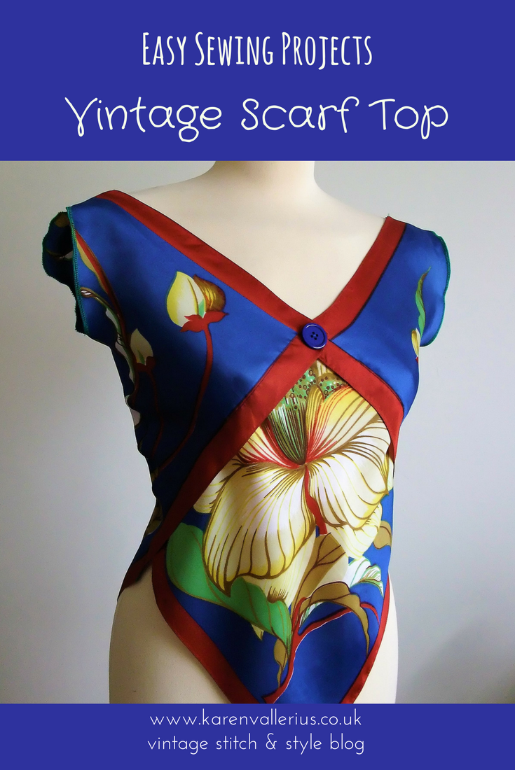 vintage scarf top by karen vallerius