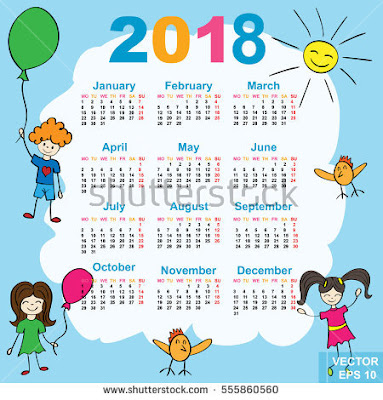 Download Kalender 2018 Masehi / 1439 Hijriyah Corel Gratis Bisa Edit