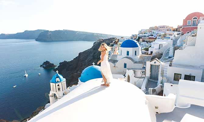 Santorini Tourist Travel in Greece