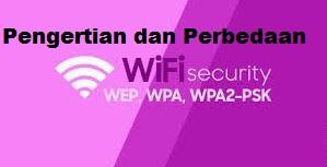 Pengertian dan perbedaan WEP, WPA, WPA2, dan WPA-PSK pada wifi