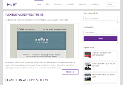 Evid Blogger Template