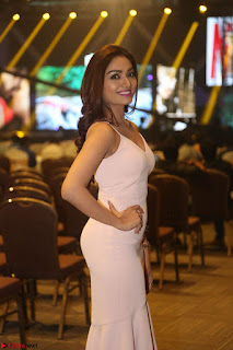 Aishwarya Devan in lovely Light Pink Sleeveless Gown 028.JPG