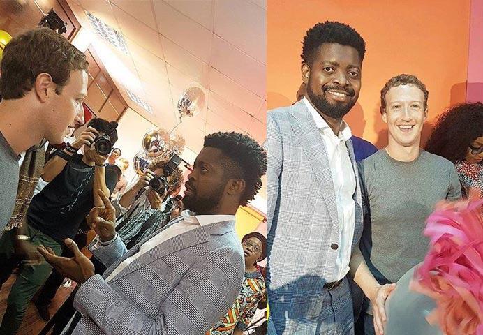 Basketmouth's fans react as comedian meets Mark Zuckerberg