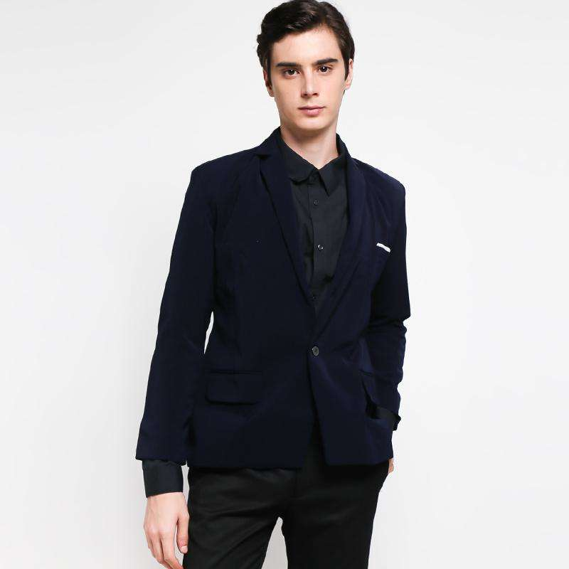 Grosirjaket Formal Jas Pria - Navy Blue