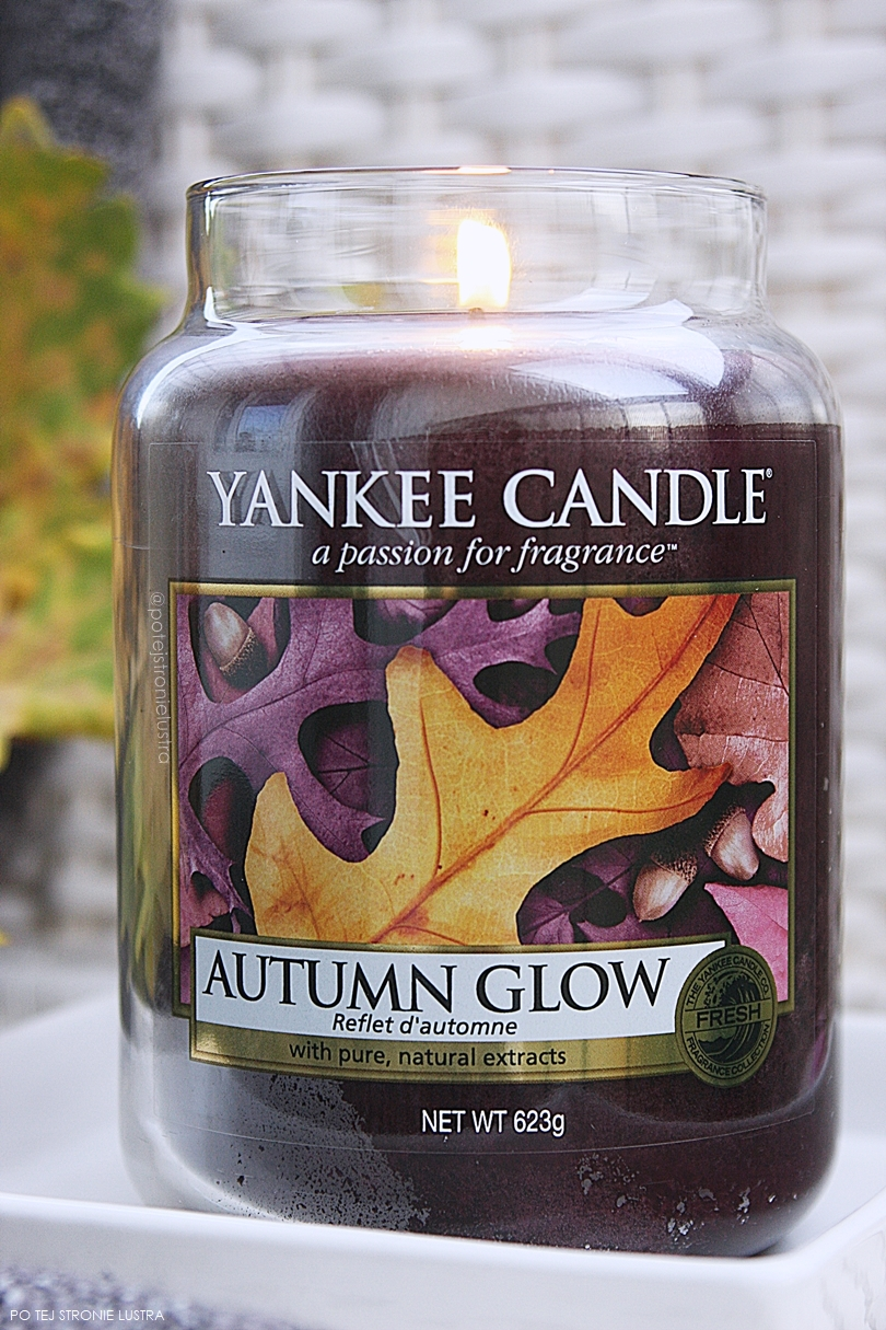 zapach yankee candle autumn glow z kolekcji Fall In Love