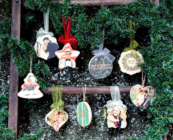 PhotoBoard ornaments from PhotoBarn make great gifts this year featured on Walking on Sunshine.