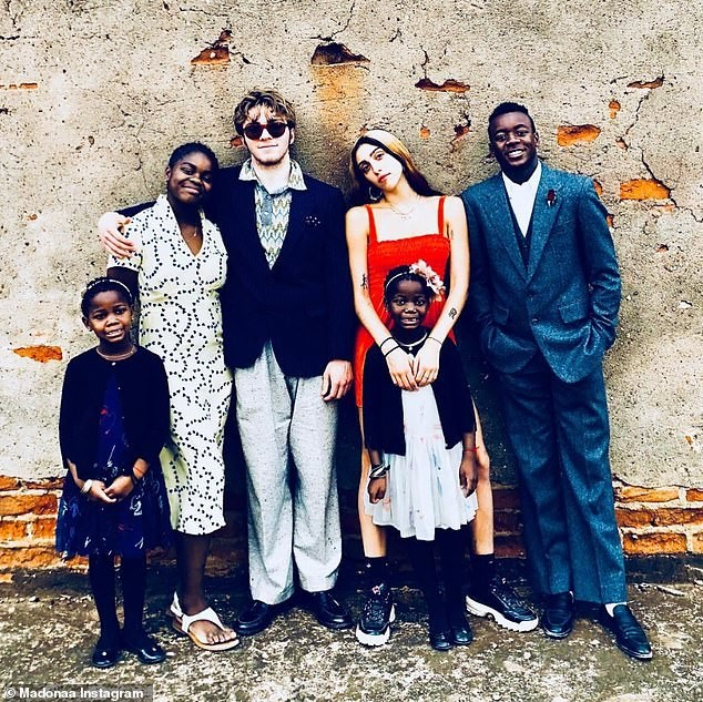 Madonna shares rare photo of all her six children as they spend Thanksgiving in Malawi