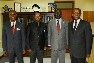 Raila Odinga With Wiper senators at Orange house. PHOTO | Courtesy