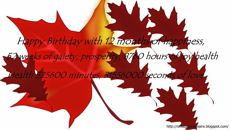 Joyeux d'anniversaire en anglais