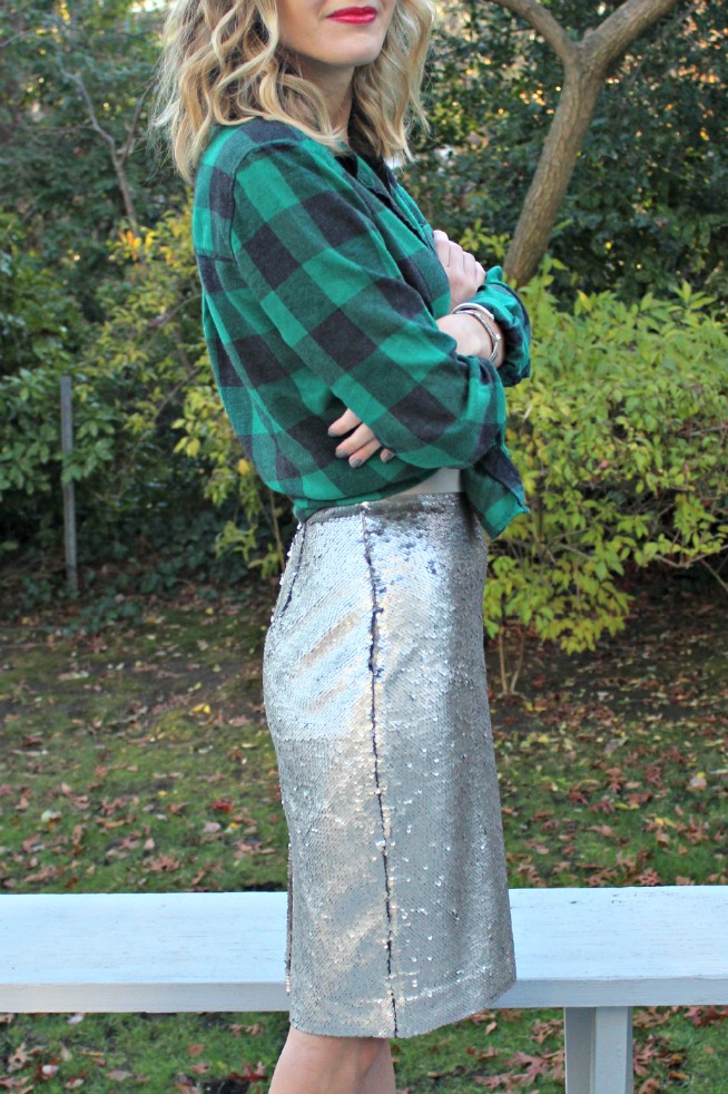 holiday sequin outfit