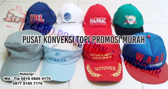 Pusat Konveksi Topi Promosi murah di Tangerang