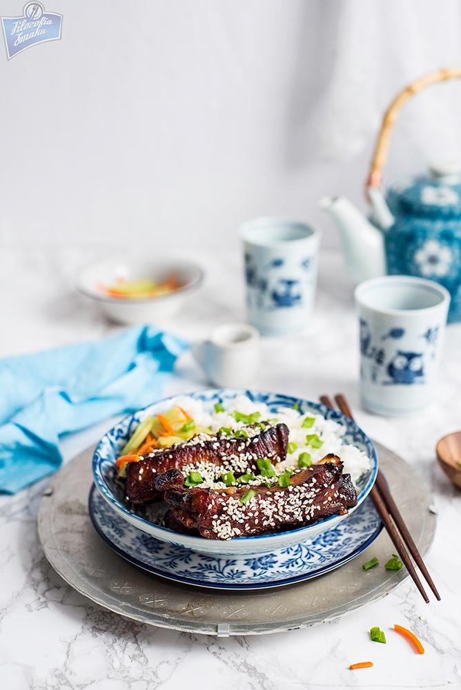 Żeberka po azjatycku pieczone