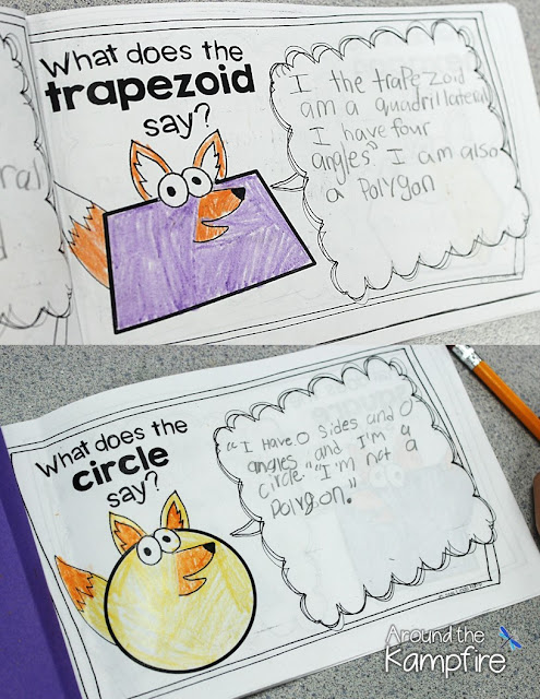 Seriously FUN Ways to Teach Shapes! 2D & 3D shapes activities with What Does the SHAPE Say? attribute booklets