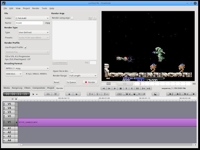 編集したい動画を開きます。キャプチャーしたゲーム動画をLinux Netrunner 17で編集