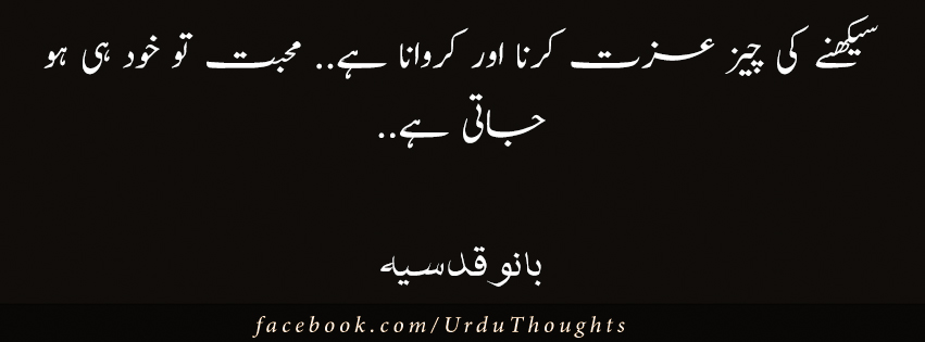 Aanso apni iqtabas from urdu novels urdu thoughts for Bano qudsia poetry