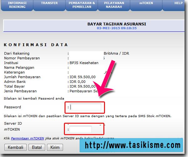 Bayar bpjs via bri internet banking