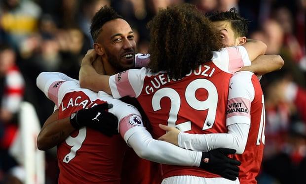 Ozil And Aubameyang Star As Arsenal Beat Burnley 3-1