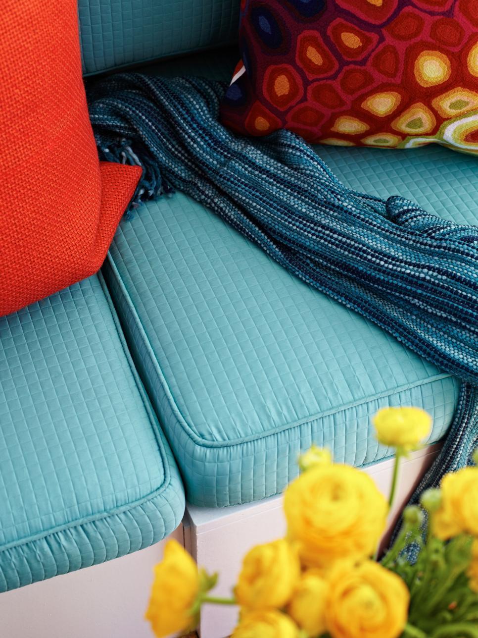 Aqua boat upholstery