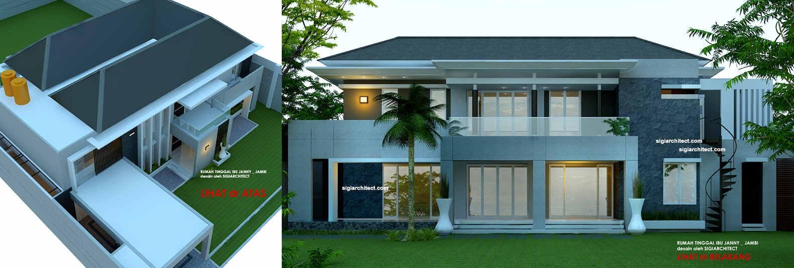 desain rumah 2 lantai hook 3