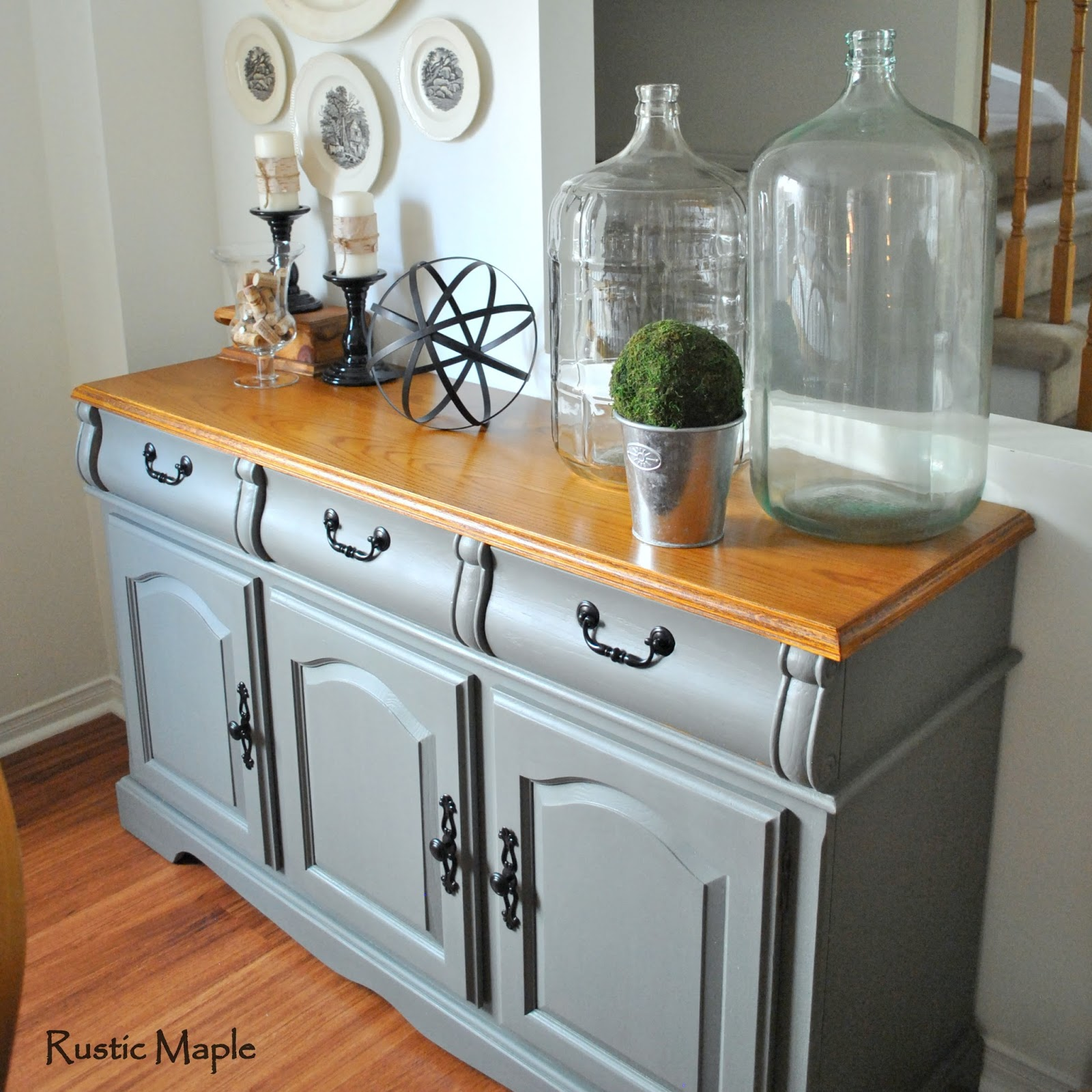 Rustic maple painted buffet in country chic paint 39 s for Painted buffet sideboard