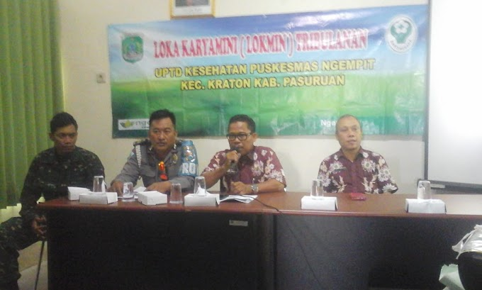 Babinsa Hadiri Lokakarya Mini   Tribulanan Di Puskesmas Ngempit