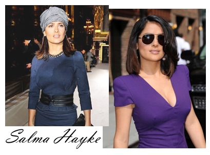 835fdc21a Compare as fotos de Salma Hayke com blusa cobrindo todo o colo e com um  decote em V.
