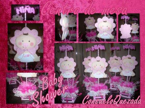 Mesa Baby Shower Nina.Las Manualidades De Consuelo Centro De Mesa Baby Shower