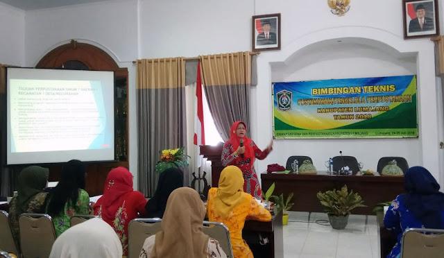 Bimbingan Teknis Pustakawan/Pengelola Perpustakaan Kabupaten Lumajang