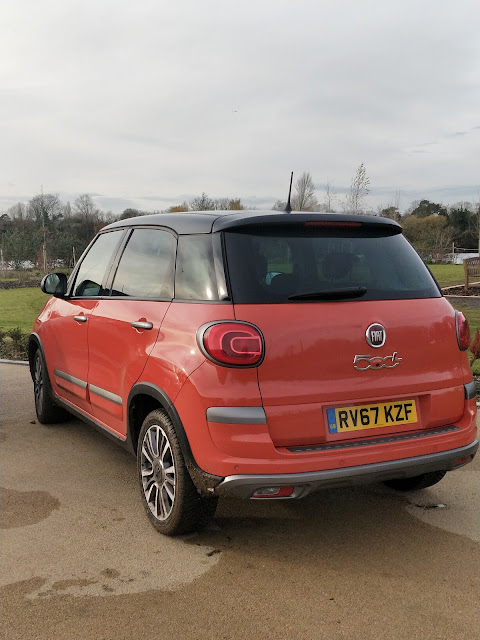 rear view of the new Fiat 500L