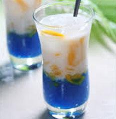 Resep praktis (mudah) es fantastic blue spesial (istimewa) enak, sedap, legit, nikmat lezat