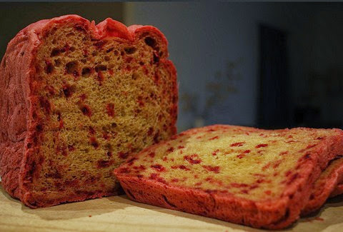 Garlic and Beetroot Bread