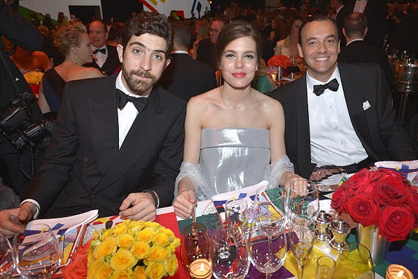 Carlo Borromeo and Charlotte Casiraghi  at the Rose Ball in Monaco