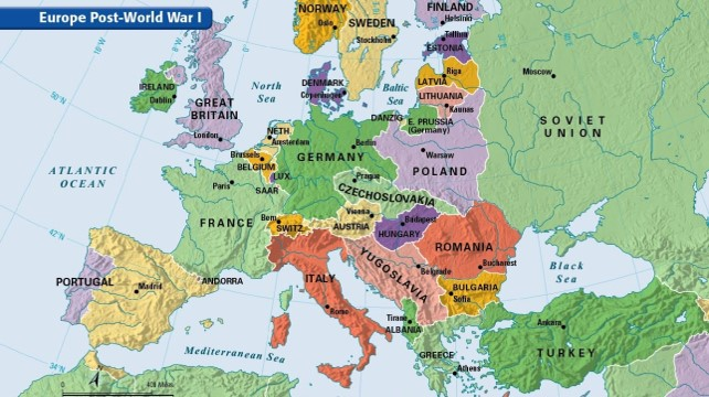 Redrawing The Map Of Europe After Wwi The Ottoman Empire