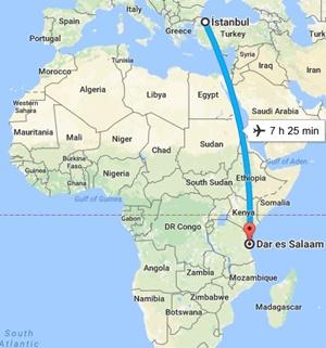 Uçakla Tanzanya Seyahati