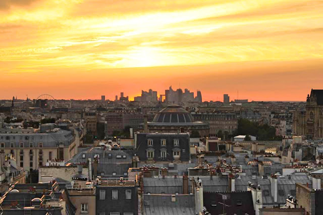 Paris sunset view from Centre Pompidou