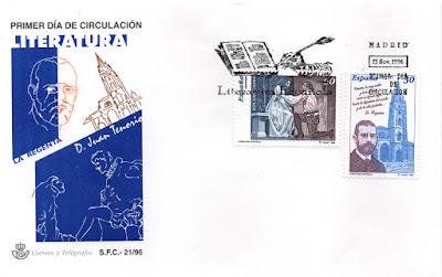 Sobre PDC sellos dedicados a la Regenta y a Don Juan Tenorio