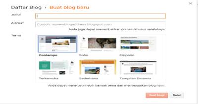 Belajar Membuat Blog Pribadi