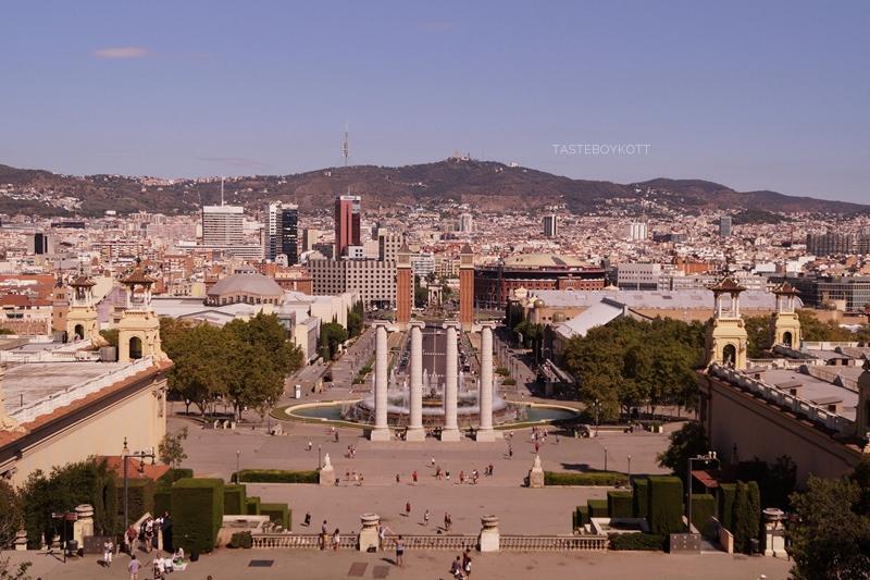 Barcelona Ausblick Montjuic Museum