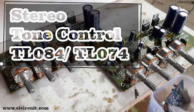 Stereo Tone Control using IC TL074 or TL084