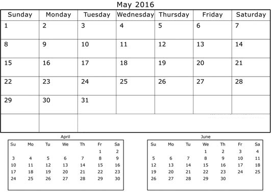 Calendar April And May And June : Get printable calendar april may june months
