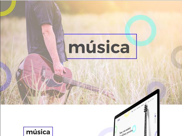 Download Online Guitar Store PSD Design Free