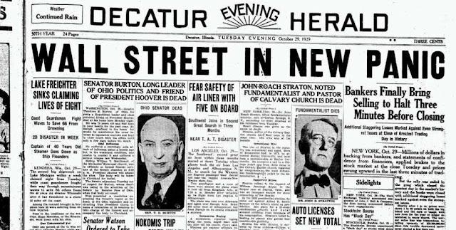 Crisis de 1929 y Wall Street