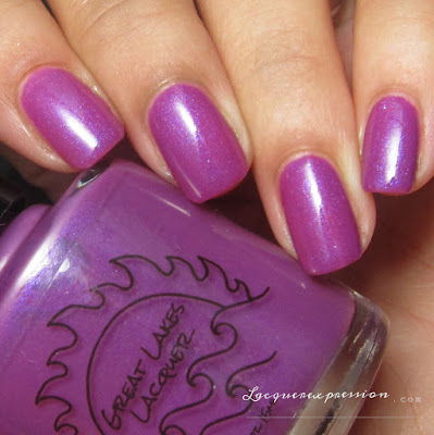 nail polish swatch of Love at Loyola by Great Lakes Lacquer