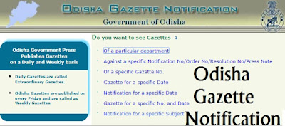 odisha gazette-govt.press