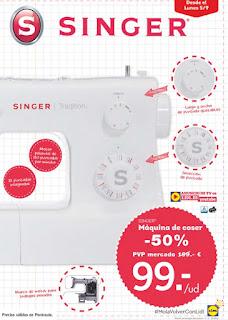 oferta maquina de coser lidl 2016