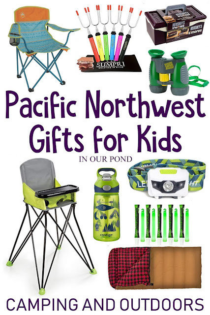 Nature-Themed Pacific Northwest Gifts for Kids // In Our Pond // Washington and Oregon // Camping // Hiking // Books about Native American legends, the animals of the Pacific Northwest, field guides for kids, and more // Camping Supplies Ideas // camping with kids // into the woods // last child in the woods