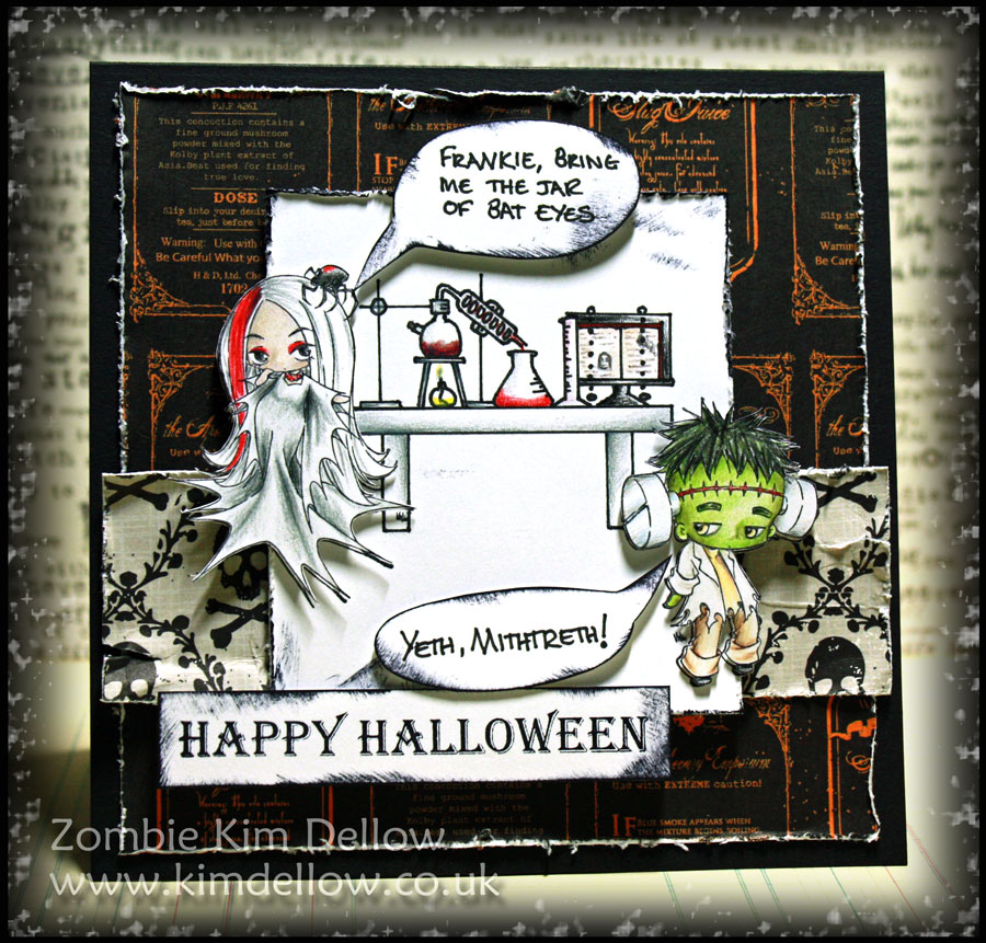 A Halloween card with Make It Crafty digi-stamps